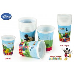 Pack 10 vasos Mickey 200 ml