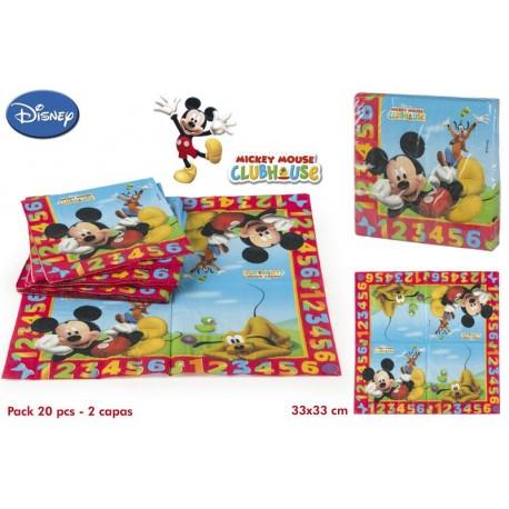 Lote de 20 servilletas Mickey