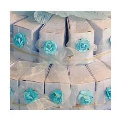 Set 45 Cajitas Cono Azul Decoradas (SOLO CAJAS)