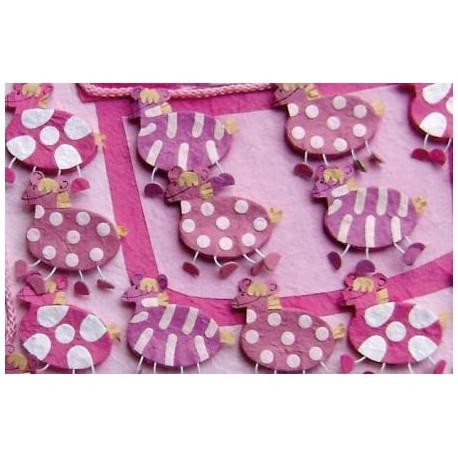Set 15 cajitas cebras rosas