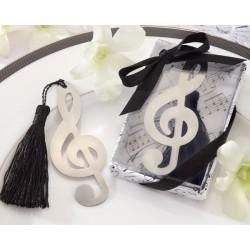 Elegante Punto de Libro Nota Musical