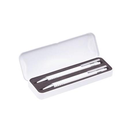 Set Bolígrafo y portaminas en estuche metal