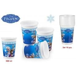 Pack de 10 vasos Frozen