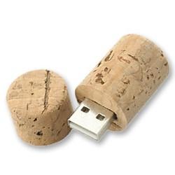 Memoria USB Corcho Tapón Botella Vino 4GB