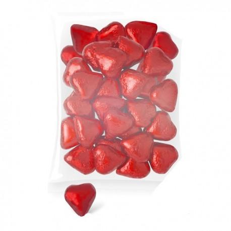 Corazones chocolate (bolsa 140 unids.)