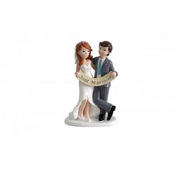"Figura de pastel ""JUST MARRIED"""