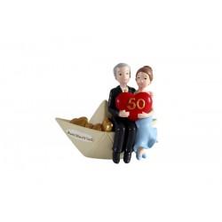 "Figura pastel ""50 Aniversario"" Barco"