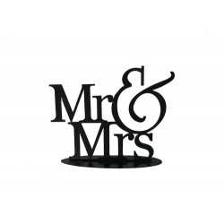Figura Pastel Metalica MR&MRS