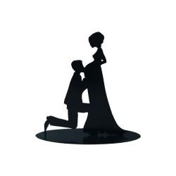 Figura Pastel Metalica EMBARAZADA