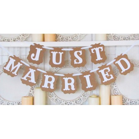 "Guirnalda Boda ""JUST MARRIED"""