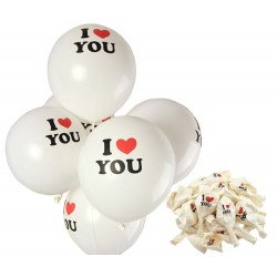 "Set 100 globos ""I LOVE YOU"""