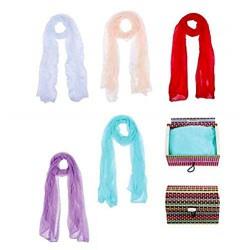 """Pañuelo """"Colourful"""" presentado en baúl de regalo"""