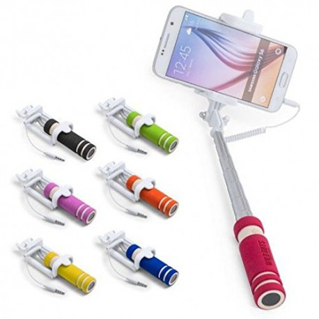 Mini Palo Selfie con cable con Auto disparador