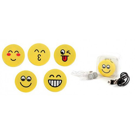 MP3 Player Emoticonos En Caja de Regalo + Cable y Cascos