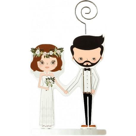 PINZA PORTAFOTOS MADERA WEDDING