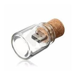 USB BOTE CRISTAL CORCHO RETRO 4GB