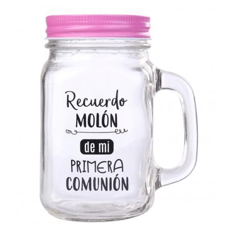"JARRA CRISTAL CON CAÑA ""RECUERDO MOLÓN"""