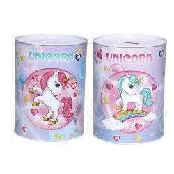 Hucha Metálica Unicornios