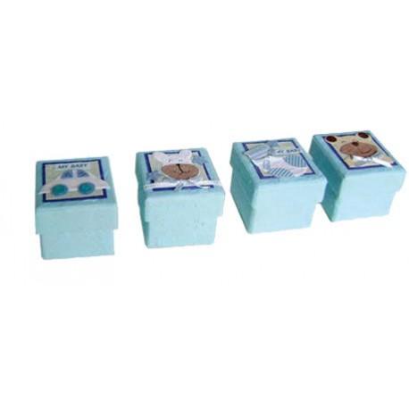 Set de 24 Cajitas Baby Azules Surtidas